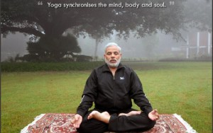 Narendra Modi does Yoga and Meditation everyday .It provides him vigour and zeal for his work.